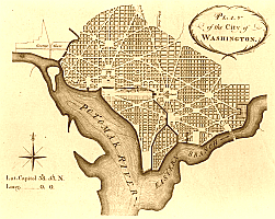 Plan Washingtonu P.Ch. L'Enfant'a z 1792 r.